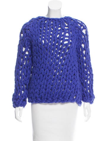 MM6 by Maison Martin Margiela Chunky Knit Wool-Blend Sweater w/ Tags None