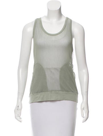 MM6 by Maison Martin Margiela Sleeveless Open Knit Top None