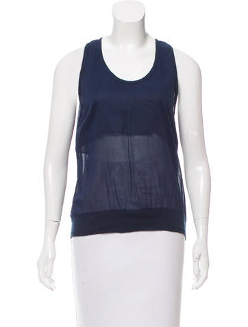 MM6 by Maison Martin Margiela Sleeveless Rib Knit Top None