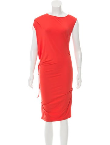 MM6 by Maison Martin Margiela Belted Midi Dress None