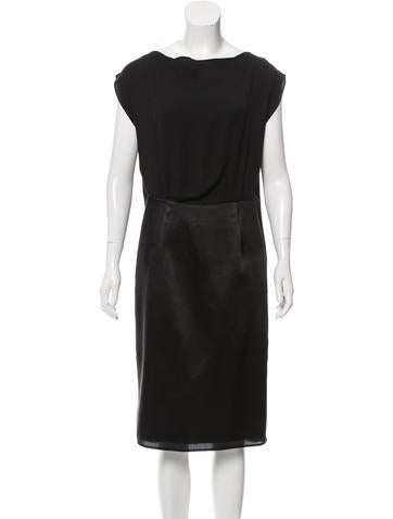 MM6 by Maison Martin Margiela Silk-Trimmed Midi Dress None