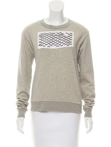 MM6 by Maison Martin Margiela Casual Patch-Accented Sweatshirt None