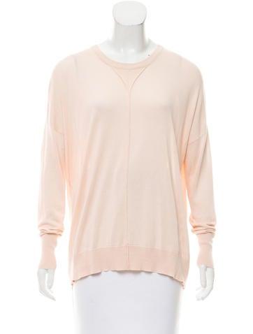 MM6 by Maison Martin Margiela Silk Long Sleeve Sweater None
