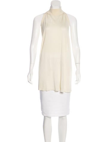 MM6 by Maison Martin Margiela Silk Turtleneck Top None