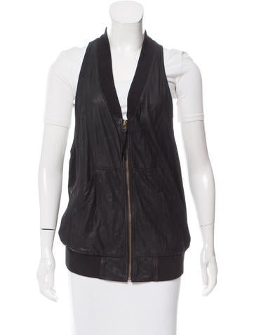 MM6 by Maison Martin Margiela Coated Leather Vest None