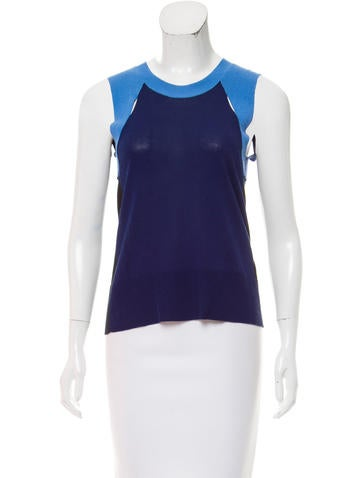 MM6 by Maison Martin Margiela Colorblock Sleeveless Top None