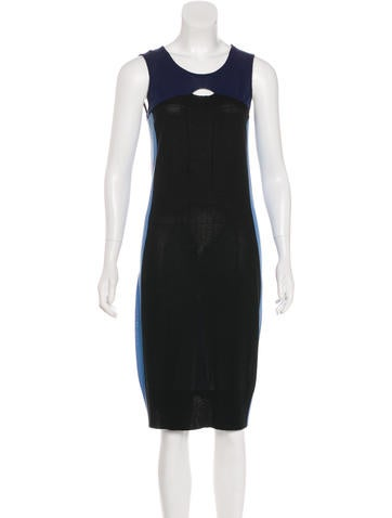 MM6 by Maison Martin Margiela Colorblock Knit Dress None