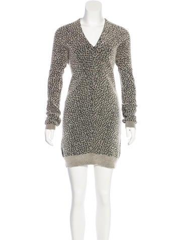MM6 by Maison Martin Margiela Long Sleeve Knee-Length Dress None