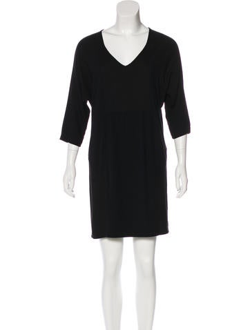MM6 by Maison Martin Margiela V-Neck Mini Dress None