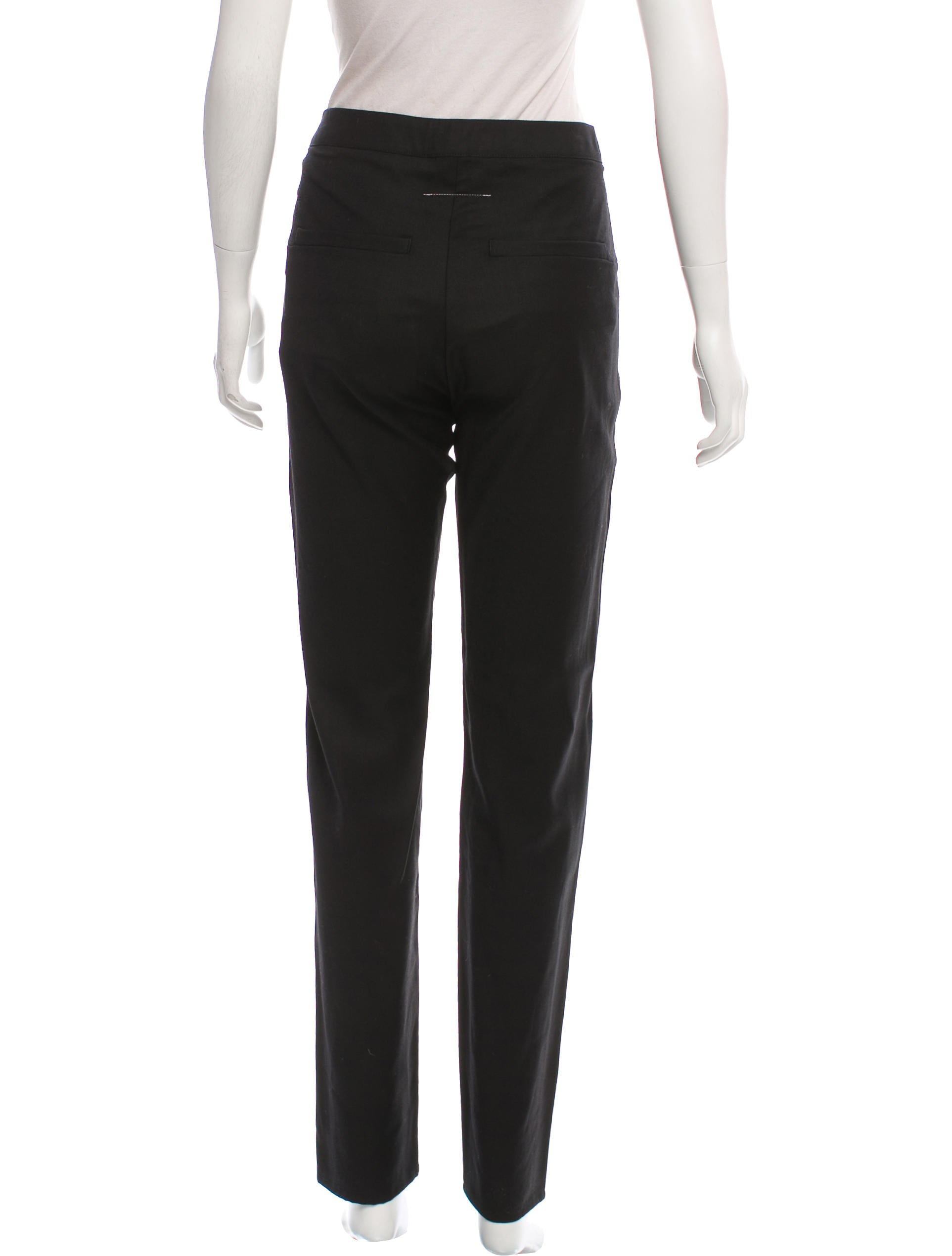 Mm6 by maison martin margiela mid rise straight leg pants for 10 moulmein rise la maison
