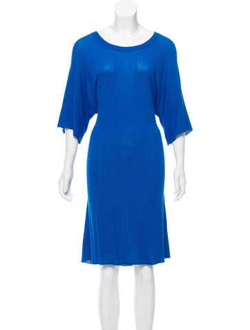 MM6 by Maison Martin Margiela Long Sleeve Knit Dress None