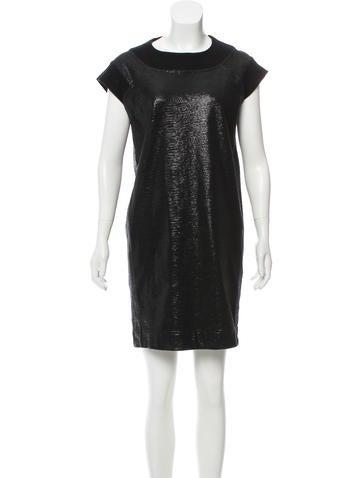MM6 by Maison Martin Margiela Metallic Shift Dress None