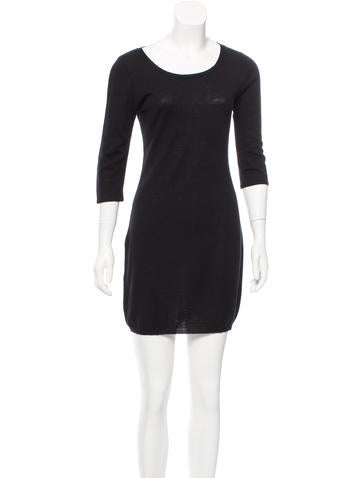 MM6 by Maison Martin Margiela Scoop Neck Wool Dress None
