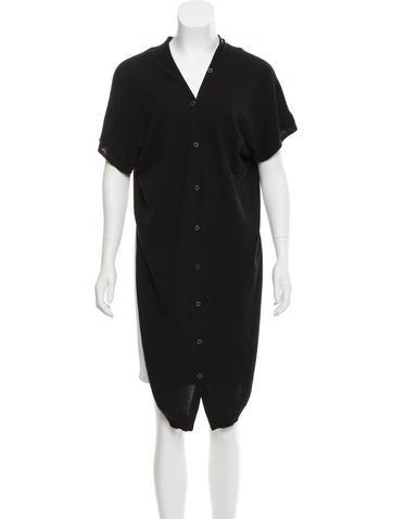 MM6 by Maison Martin Margiela Cropped Short Sleeve Cardigan None