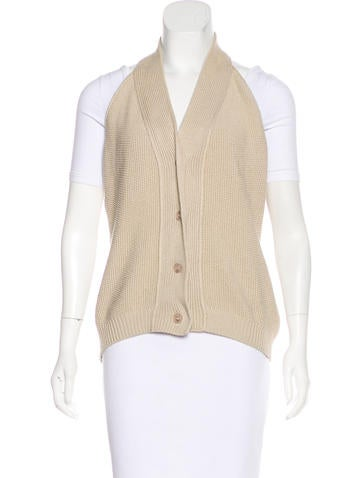 MM6 by Maison Martin Margiela Button-Up Sweater Vest None