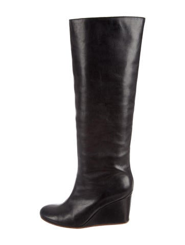 MM6 by Maison Martin Margiela Embossed Wedge Boots None