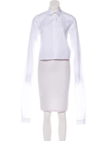 MM6 by Maison Martin Margiela Button-Up Crop Top None