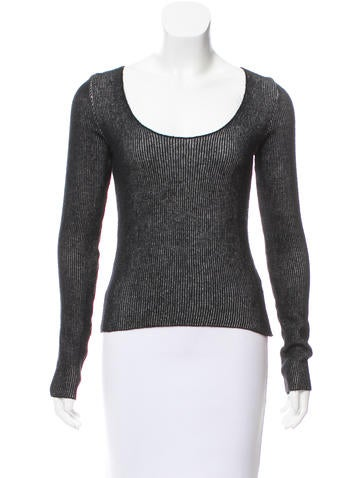 MM6 by Maison Martin Margiela Long Sleeve Wool Sweater None