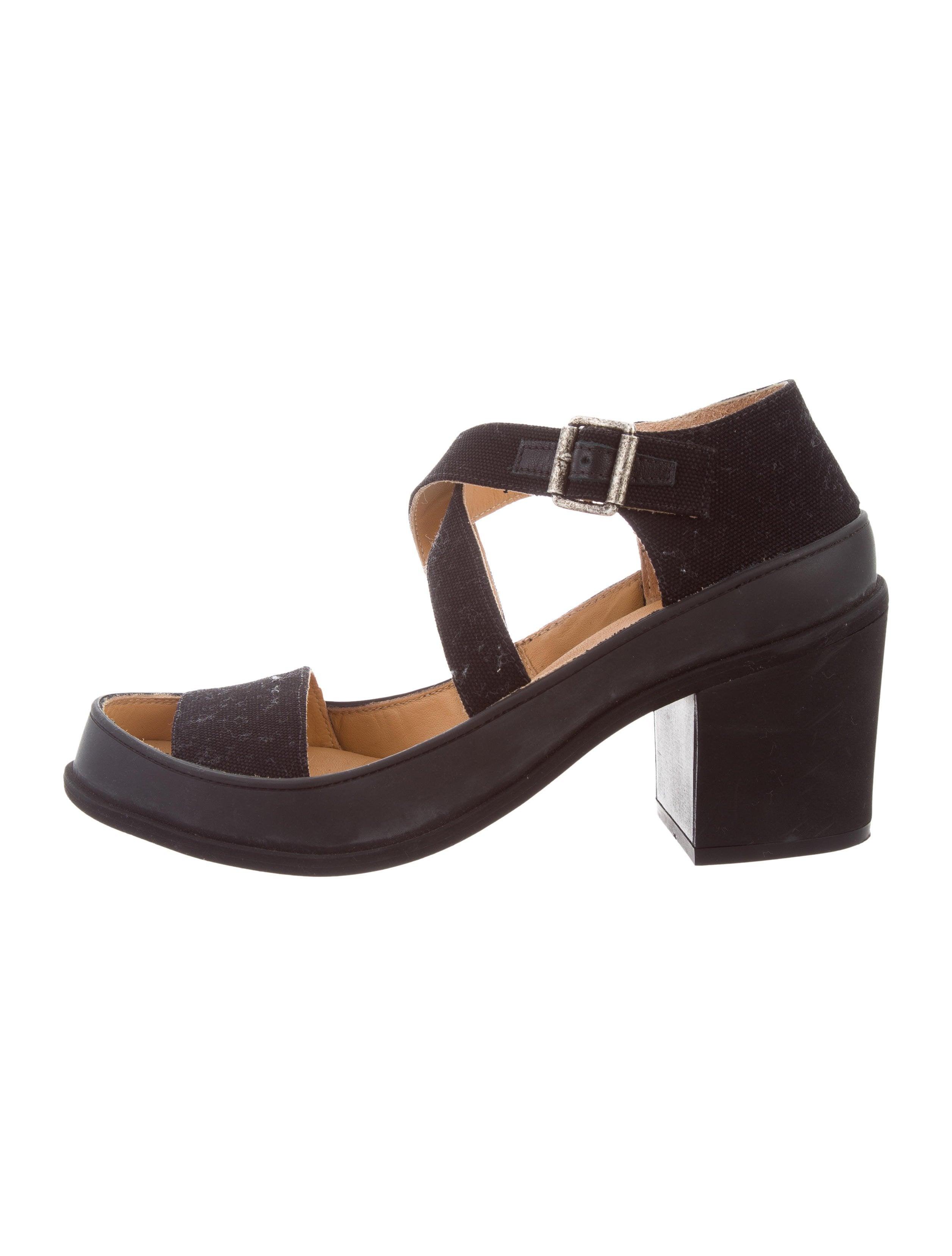 Multi-strap canvas and leather sandals Maison Martin Margiela Sale Order Sale Low Shipping Sale Online MIKmw2Bi