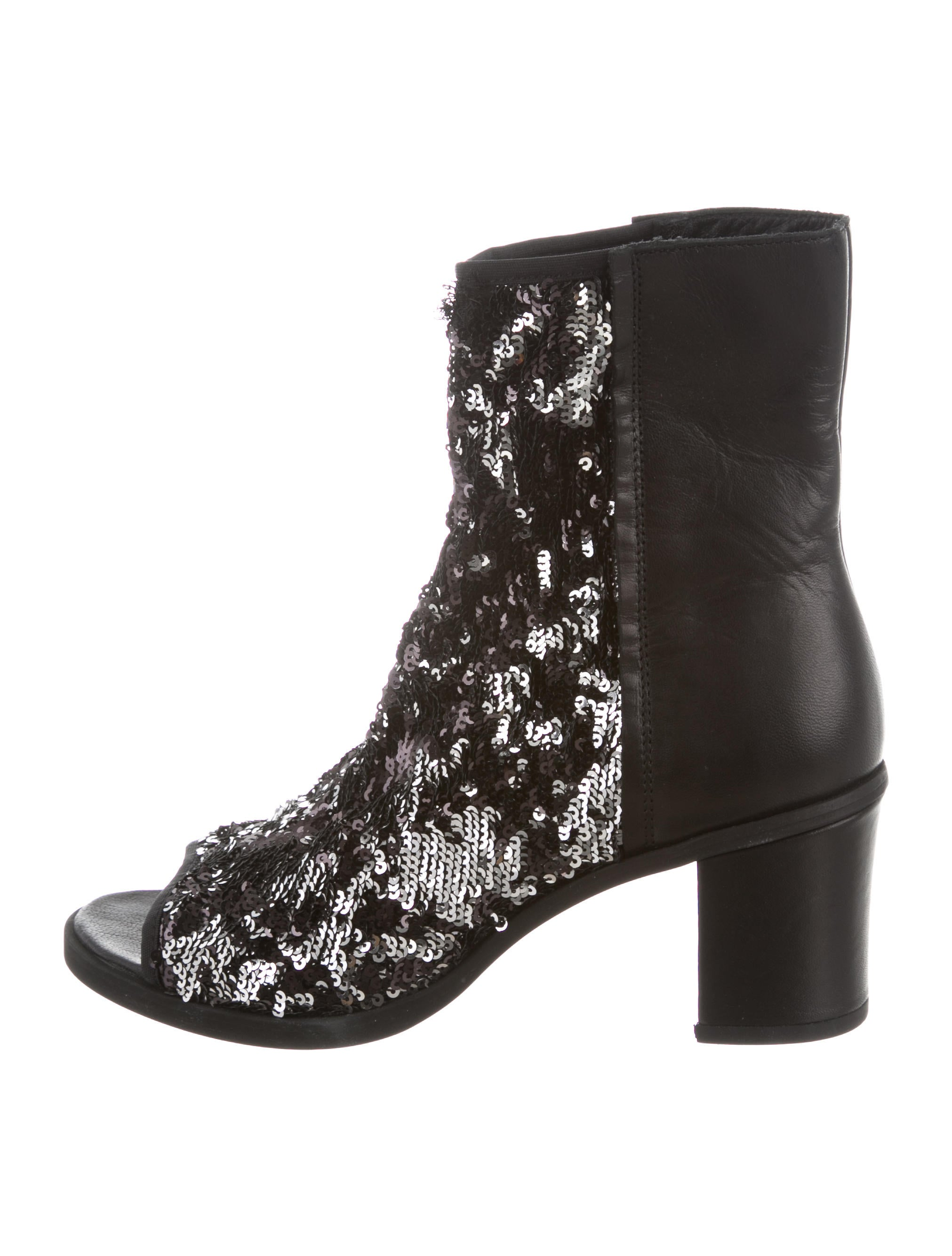 clearance get to buy MM6 Maison Margiela MM6 Maison Martin Margiela Sequined Peep-Toe Ankle Boots w/ Tags discount official P73OD