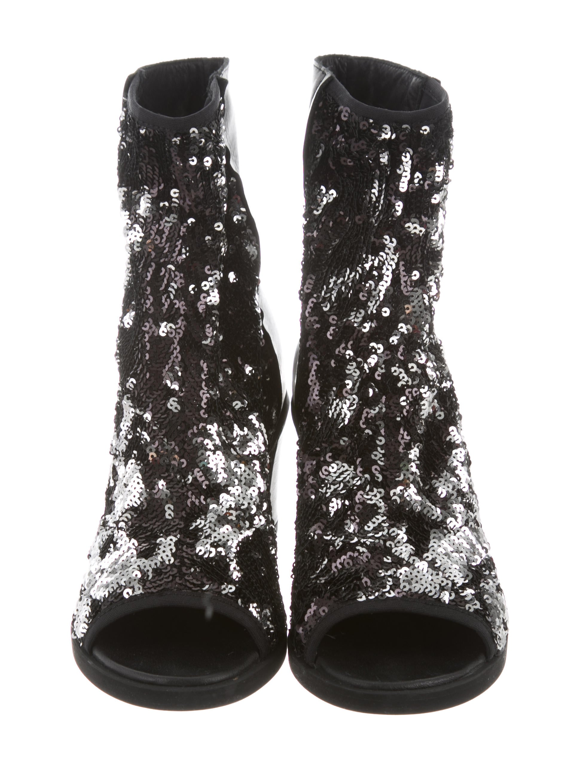 MM6 Maison Margiela MM6 Maison Martin Margiela Sequined Peep-Toe Ankle Boots w/ Tags cheap new styles cheap shop for discount explore buy cheap cost TmXMg6CP5i