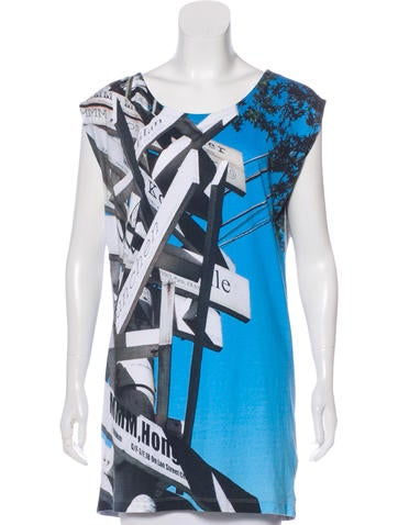 MM6 Maison Martin Margiela Sleeveless Printed Tunic None