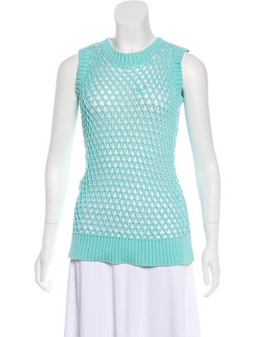 MM6 Maison Margiela Sleeveless Open Knit Top None