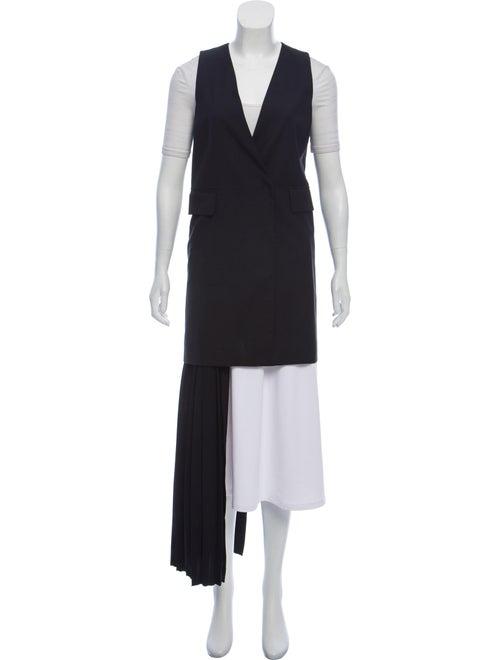 MM6 Maison Margiela Panel-Accented Wool Vest Black