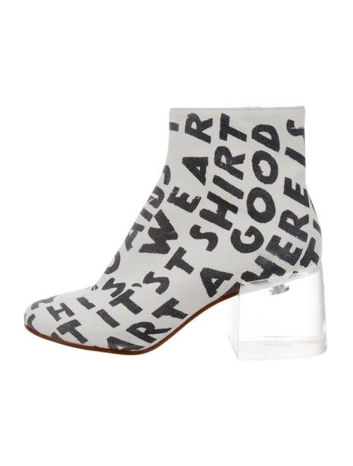 MM6 Maison Margiela Graphic Print Boots White