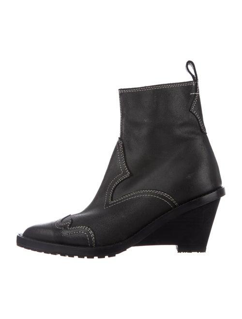 MM6 Maison Margiela Leather Boots Black