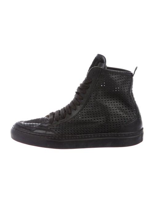 MM6 Maison Margiela Leather Sneakers Black