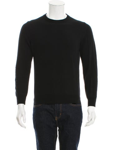 Maison Martin Margiela Leather-Accented Wool Sweater None