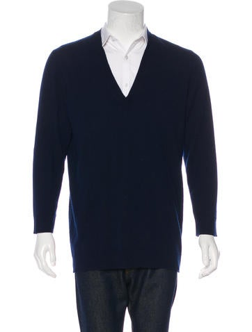 Maison Martin Margiela Cashmere V-Neck Sweater None