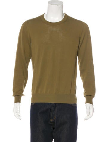 Maison Martin Margiela Leather-Trimmed Knit Sweater None