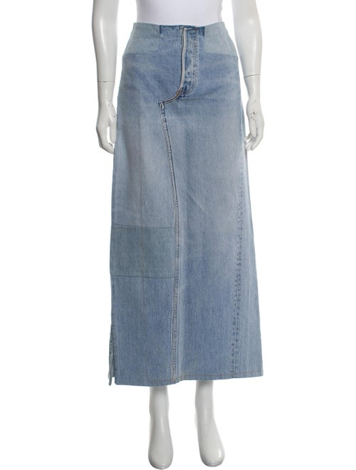 Maison Martin Margiela Artisanal Denim Midi Skirt