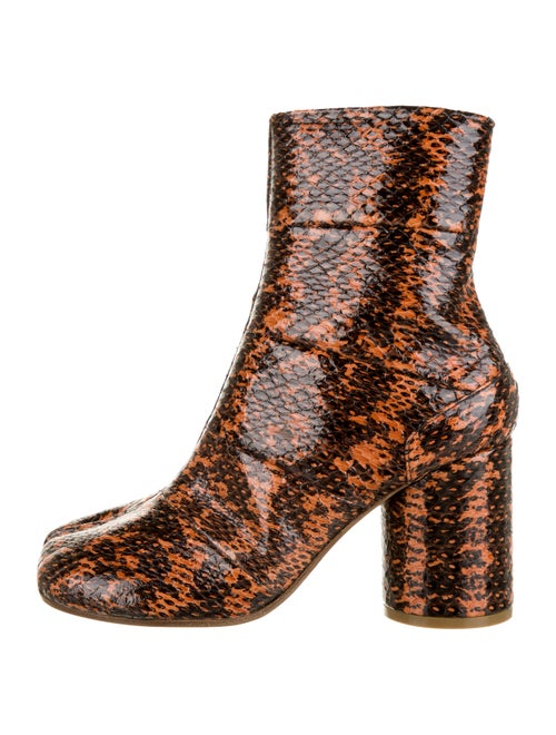 Maison Martin Margiela Snakeskin Tabi Boots Snakes