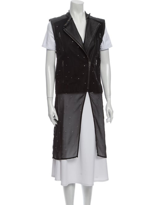 Maison Martin Margiela Leather Vest Black