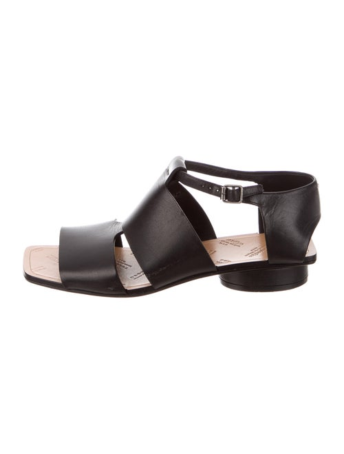 Maison Martin Margiela Leather Sandals Black