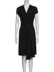 Maison Martin Margiela V-Neck Midi Length Dress