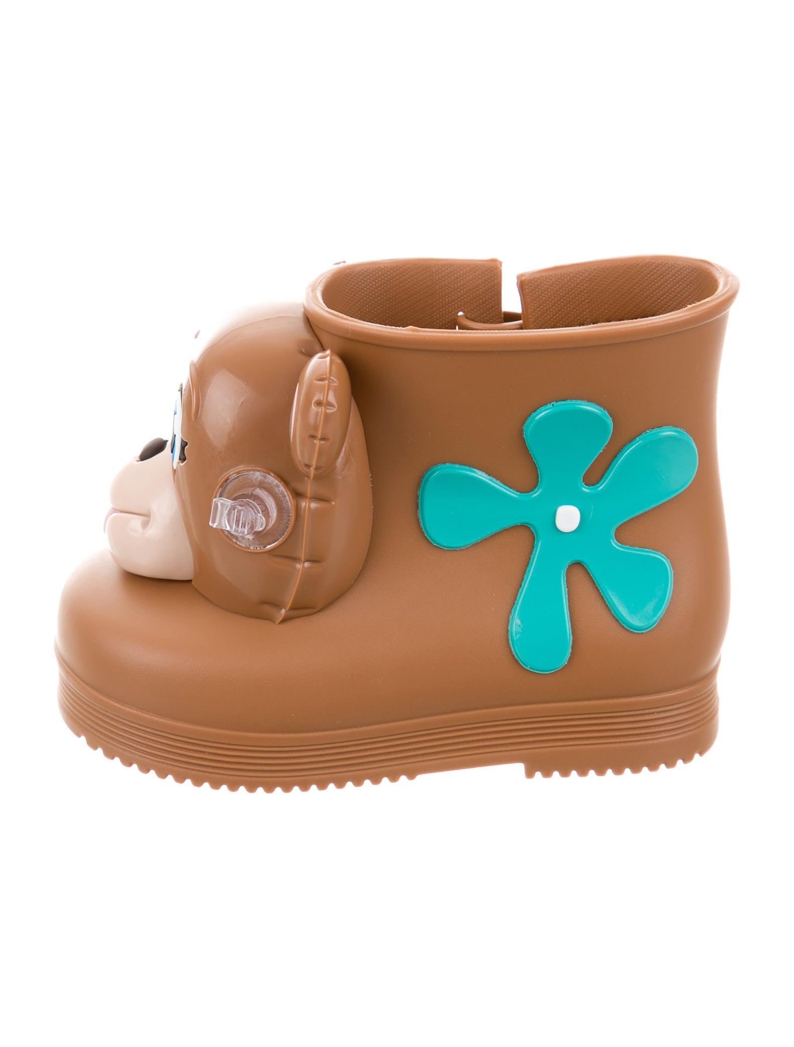 Mini Melissa x Jeremy Scott Girls Rubber Monkey Boot w Tags