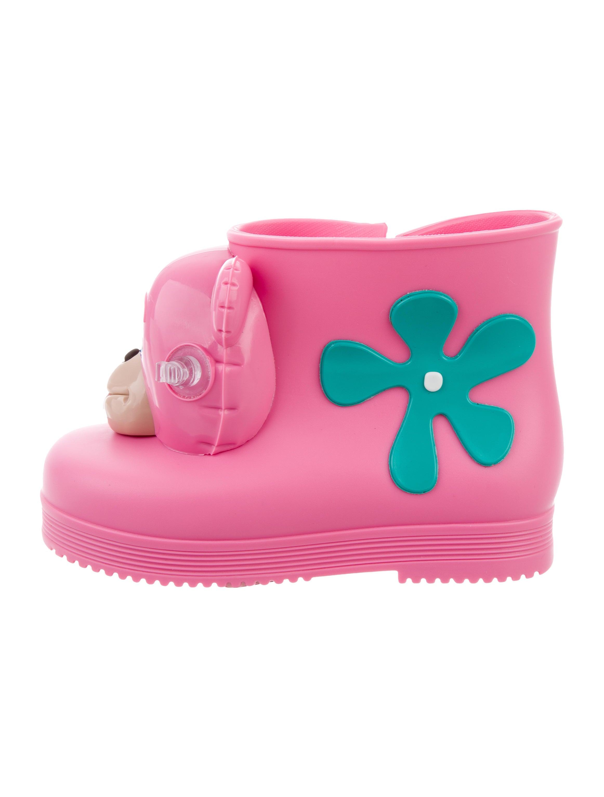 Mini Melissa x Jeremy Scott Girls Rubber Monkey Boots w Tags