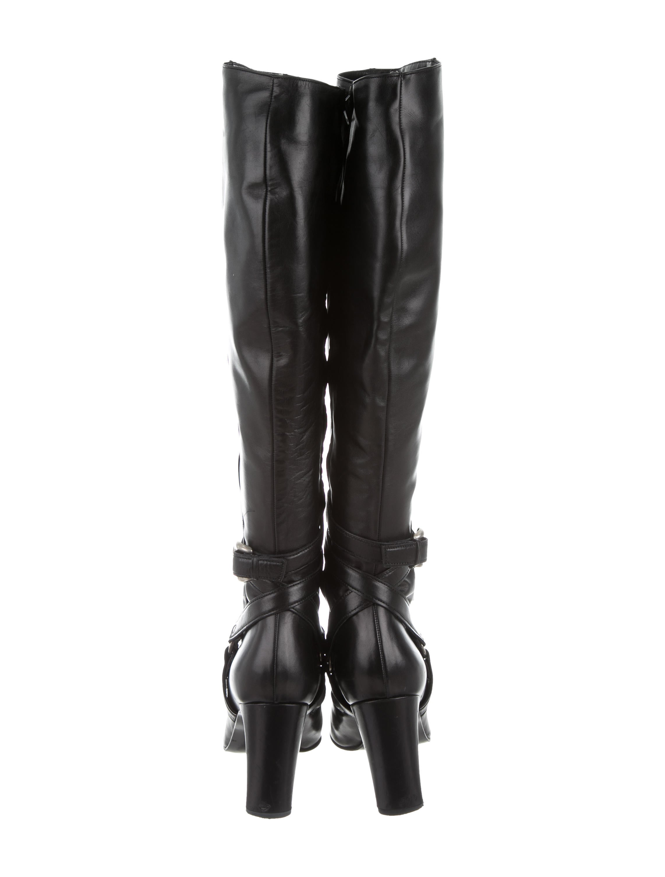 michel perry leather harness boots shoes wmn20023