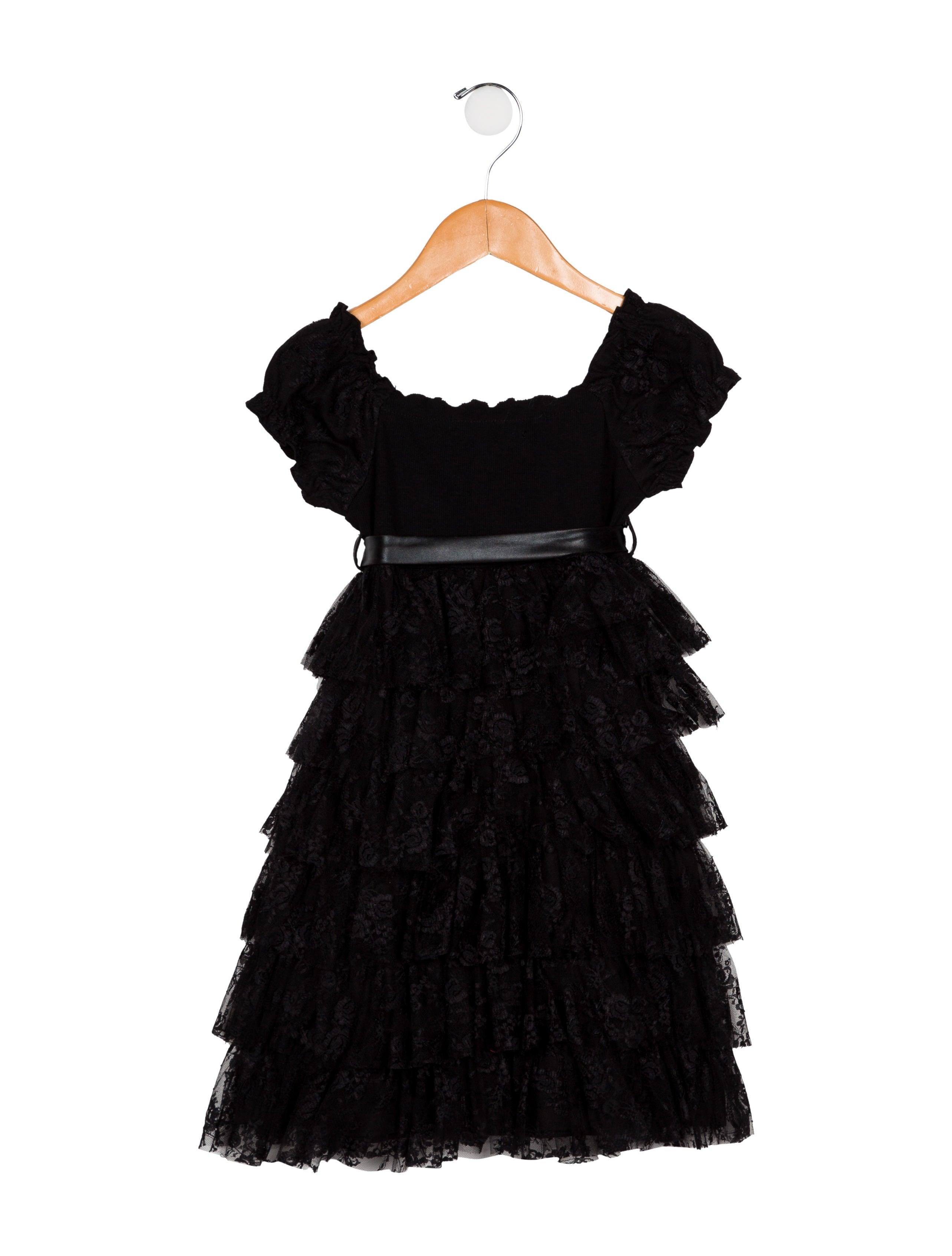 4fd9827dada9 Monnalisa Jakioo Girls  Lace-Accented A-Line Dress - Girls ...