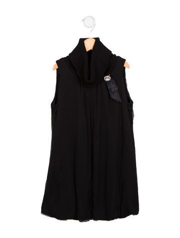 Monnalisa Girls' Silk Sleeveless Dress w/ Tags None