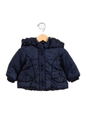 Monnalisa Girls' Hooded Puffer Coat None