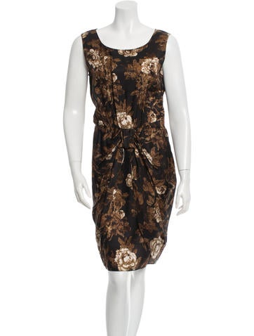 Moschino Cheap and Chic Floral Print Sheath Dress