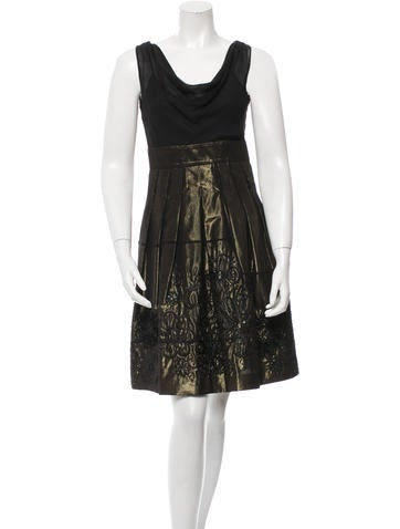Moschino Cheap and Chic Sleeveless Metallic Dress