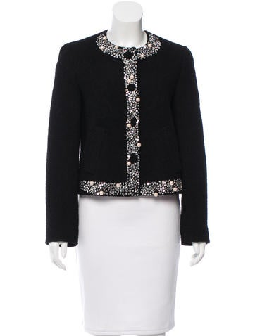 Moschino Cheap and Chic Embellished Virgin Wool Jacket w/ Tags