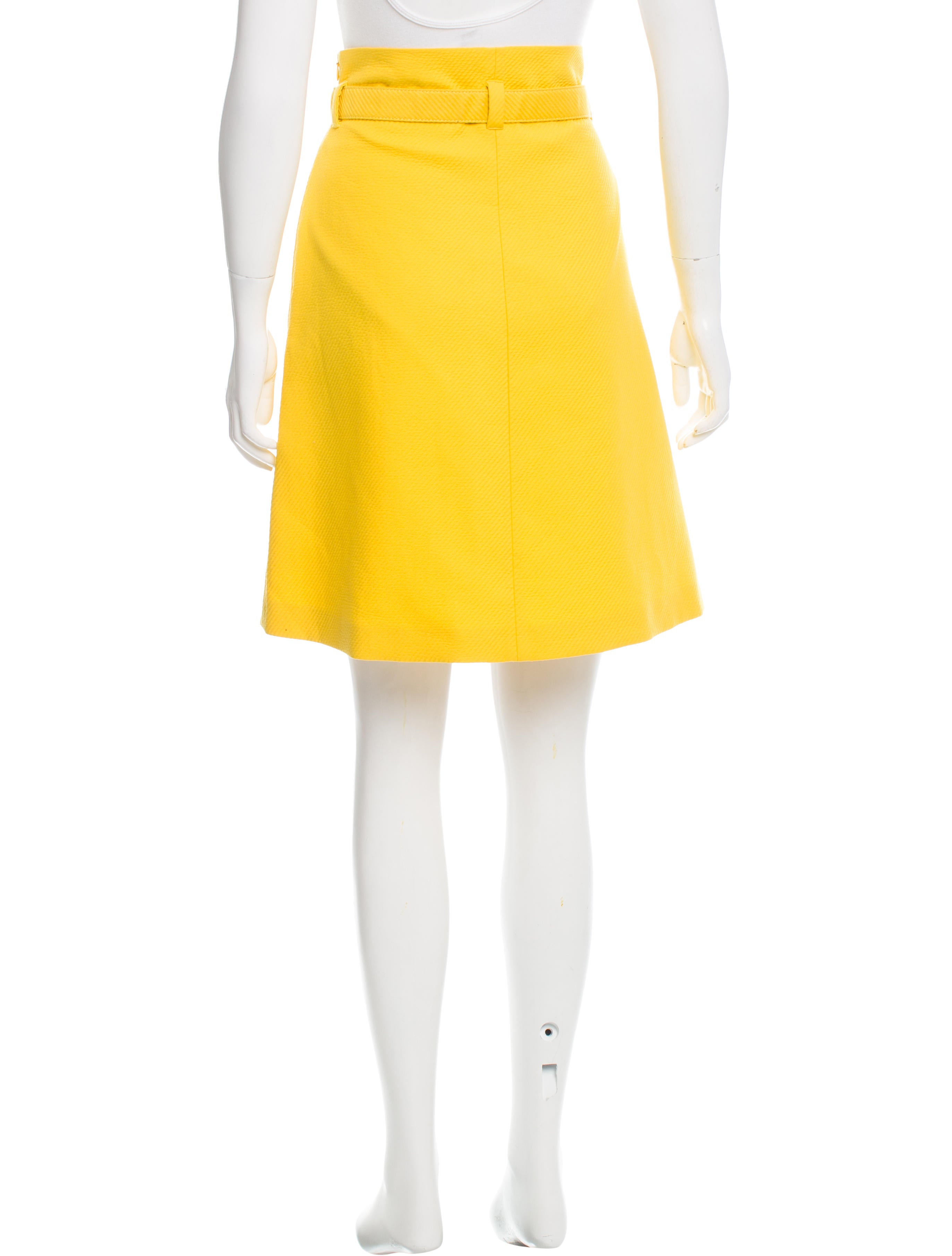 moschino cheap and chic belted knee length skirt
