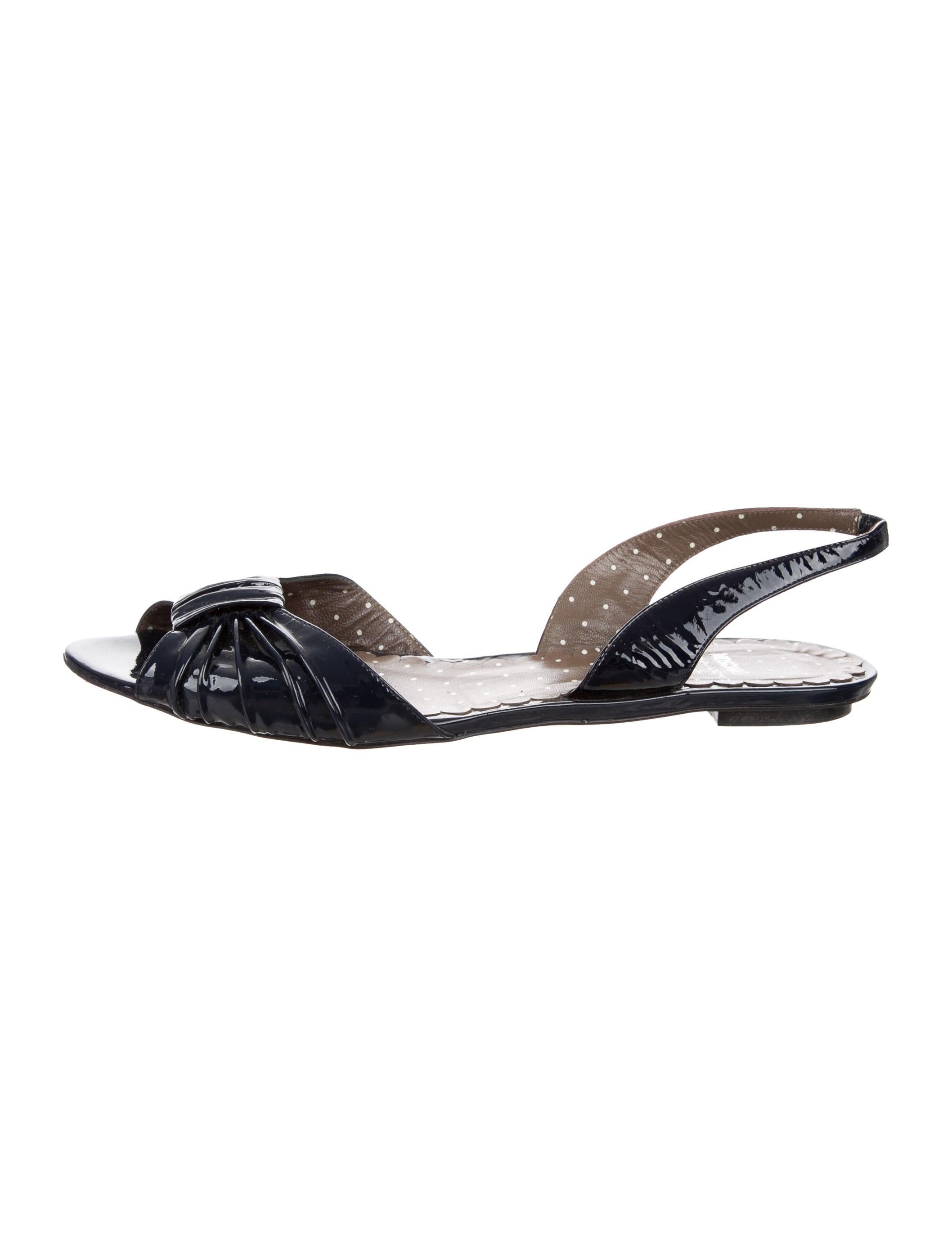 Moschino Cheap and Chic Peep-Toe Slingback Flats
